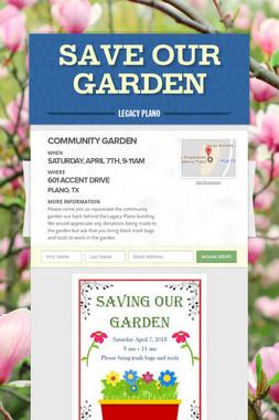 Save Our Garden