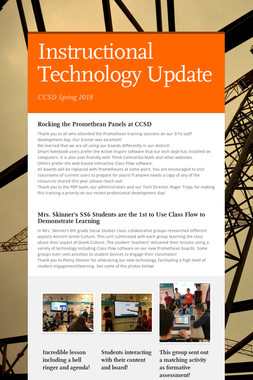 Instructional Technology Update