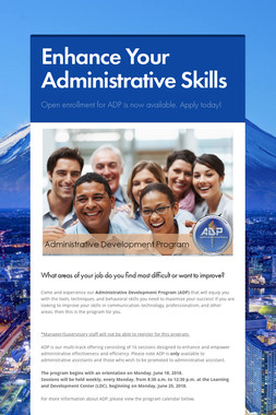 Enhance Your Administrative Skills