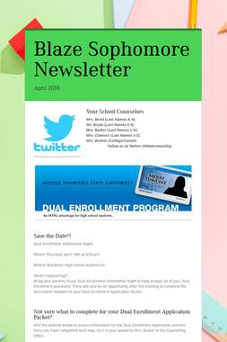 Blaze Sophomore Newsletter