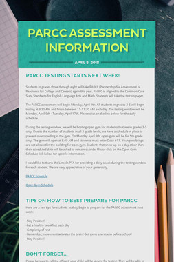PARCC Assessment Information