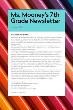 Ms. Mooney's 7th Grade Newsletter