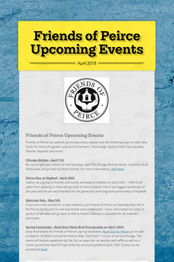 Friends of Peirce Upcoming Events