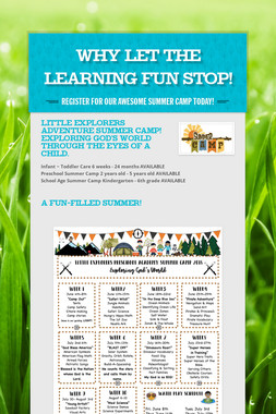 Why let the learning fun STOP!