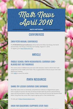 Math News April 2018