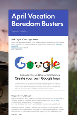 April Vacation Boredom Busters