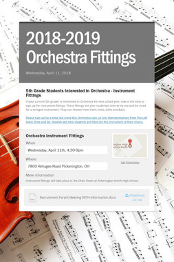 2018-2019 Orchestra Fittings