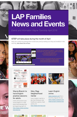 LAP Families News and Events