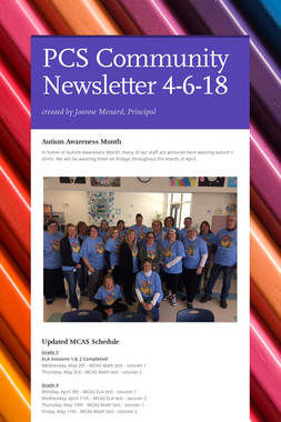 PCS Community Newsletter 4-6-18
