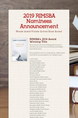 2019 RIMSBA Nominees Announcement