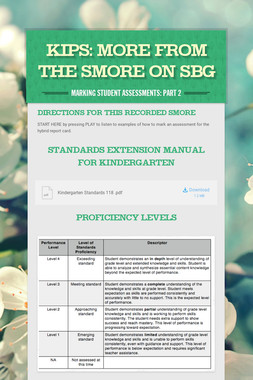 KIPS: MORE from the SMORE on SBG