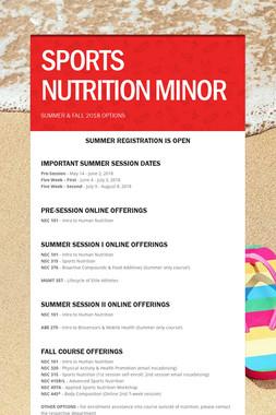 SPORTS NUTRITION MINOR