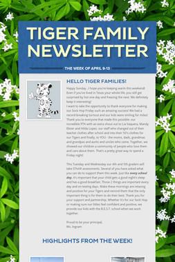Tiger Family Newsletter