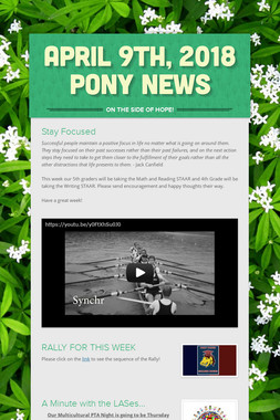 April 9th, 2018 Pony News