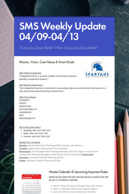 SMS Weekly Update 04/09-04/13