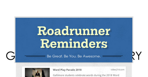 Roadrunner Reminders | Smore Newsletters for Business