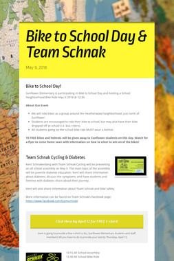 Bike to School Day & Team Schnak