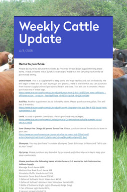 Weekly Cattle Update