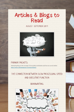 Articles & Blogs to Read