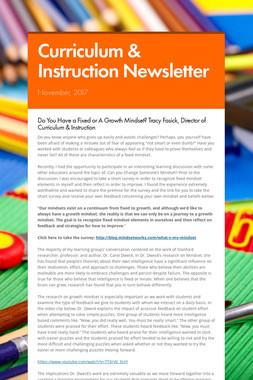 Curriculum & Instruction Newsletter