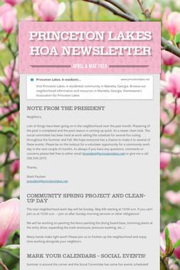 Princeton Lakes HOA Newsletter