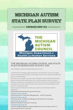 Michigan Autism State Plan Survey