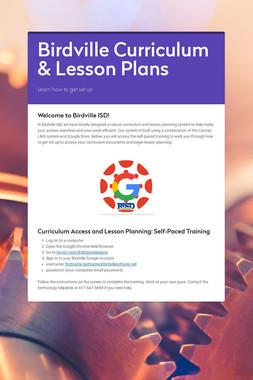 Birdville Curriculum & Lesson Plans