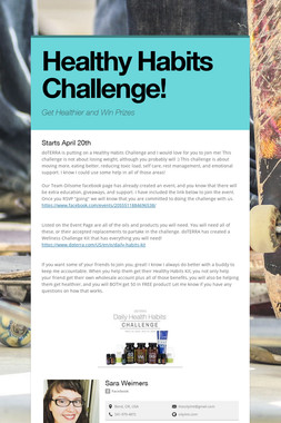 Healthy Habits Challenge!