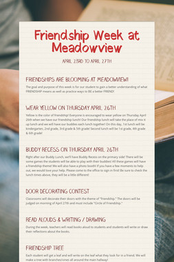 Friendship Week at Meadowview