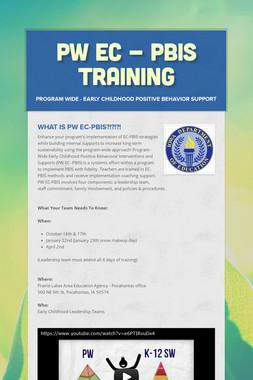 PW EC - PBIS Training