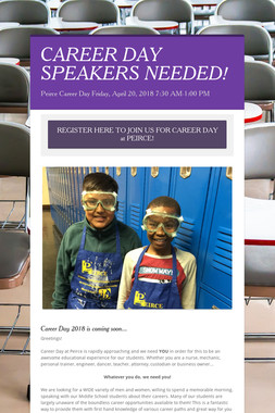CAREER DAY SPEAKERS NEEDED!