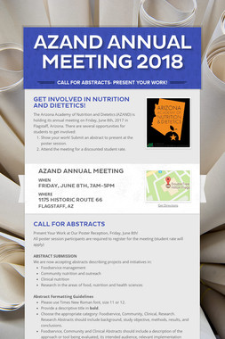 AZAND Annual Meeting 2018