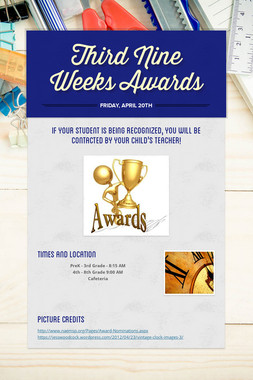 Third Nine Weeks Awards