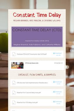 Constant Time Delay