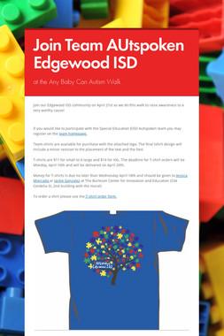Join Team AUtspoken Edgewood ISD