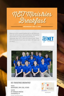 NET Ministries Breakfast