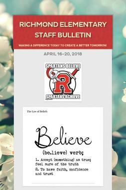 Richmond Elementary Staff Bulletin