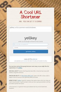 A Cool URL Shortener
