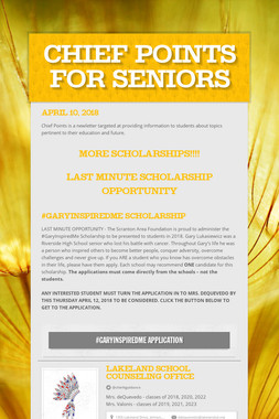 Chief Points For Seniors