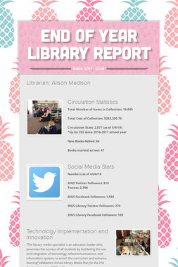 End of Year Library Report