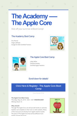 The Academy ----- The Apple Core