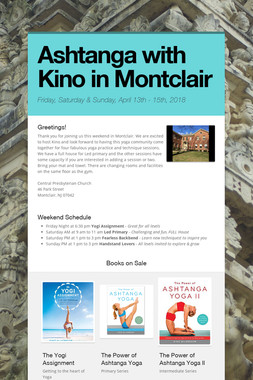 Ashtanga with Kino in Montclair