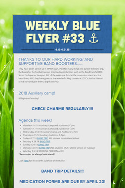 Weekly Blue Flyer #33   ⚓️