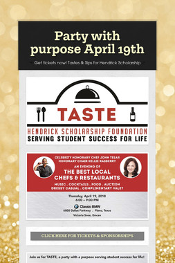 Party with purpose April 19th