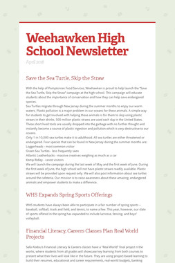 Weehawken High School Newsletter