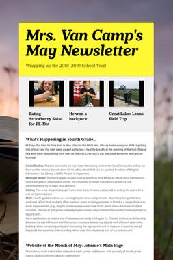 Mrs. Van Camp's May Newsletter