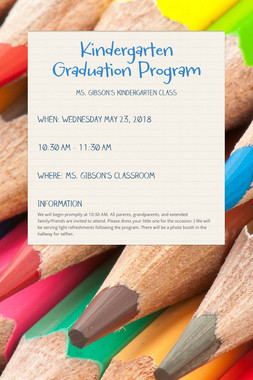 Kindergarten Graduation Program