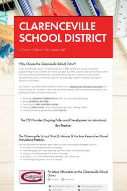 CLARENCEVILLE SCHOOL DISTRICT