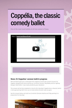 Coppélia, the classic comedy ballet