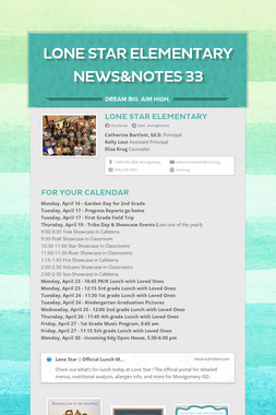 Lone Star Elementary News&Notes 33